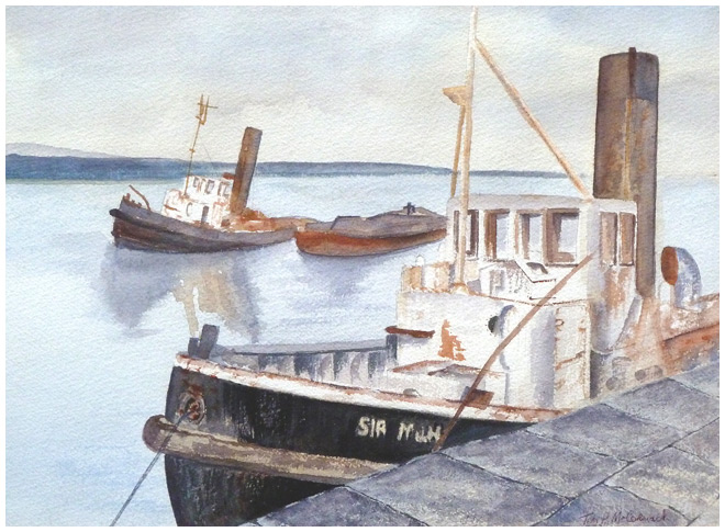 Old Sir Milne :: Old tugs in Malahide, Co. Dublin